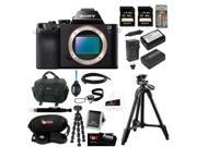 Sony a7r: ILCE7R/B ILCE7RB 36.3 MP a7R Full-Frame Interchangeable Digital Lens Camera Bundle + Sony 64GB SDHC Memory Card +Replacement NP-FW50 Two Batteries with Charger + Accessory Kit