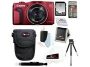 Canon SX700 PowerShot SX700 HS Digital Camera in Red with 16GB Best Camera Kit