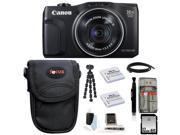 Canon SX700 PowerShot SX700 HS Digital Camera (Black) with 32GB Best Camera Kit