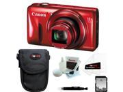 Canon PowerShot SX600 HS (Red) with 16GB Accessory Kit