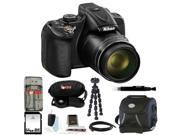 Nikon Coolpix P600 (Black) with 64GB Deluxe Accessory Kit