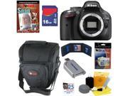 Nikon D5200 24.1 MP CMOS Digital SLR Camera (Body) + 7pc Bundle 16GB Accessory Kit