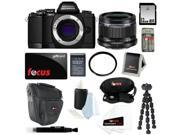 Olympus OM-D E-M10 Mirrorless Micro Four Thirds Digital Camera (Body in Black) with M.Zuiko Digital 25mm f/1.8 Lens + 32GB Deluxe Accessory Kit