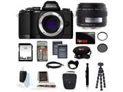 Olympus OM-D E-M10 Mirrorless Digital Camera Black (Body Only) + Olympus E-System 35/3.5 Macro Lens + 64GB SD HC Memory Card + Accessory Kit