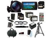 "Sony HDRCX900/B HD Video Camera w/ 1"" sensor + Two Sony 32GB SD & Two Sony 64GB SD Card Deluxe Accessory Kit + Three Wasabi Power Replacement Batteries and Charger"