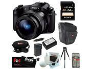 Sony DSCRX10 Cybershot 20.2 MP Digital Still Camera + 64 GB Memory Card + kit