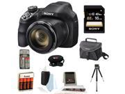 Sony H400/B 20.4MP High Zoom Point and Shoot Camera with Sony 32GB SD Card + Camera Case + HDMI Standard to Micro Cable + Accessory Kit