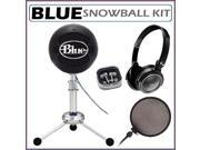 Blue Microphones Snowball Plug & Play USB Microphone Black + Accessory Kit