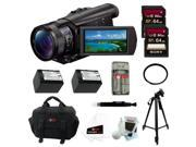 Sony ax100 FDR-AX100/B FDRAX100 AX100 4K Ultra HD Camcorder (Black) + Sony 64GB + Best HD Camcorder Kit