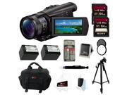Sony FDR-AX100/B 4K Ultra HD Camcorder (Black) + 64GB Bundle
