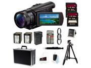 Sony FDR-AX100/B FDRAX100 AX100 4K Ultra HD Camcorder (Black) + Sony 64GB + Best HD Camcorder Kit