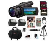 Sony FDR-AX100/B FDRAX100 AX100 4K Ultra HD Camcorder (Black) Bundle
