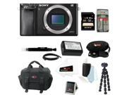 Sony a6000: Alpha a6000 ILCE-6000/B ILCE6000B 24.3 Interchangeable Lens Camera Body + Sony 32GB SDHC Card + Case + Wasabi Power Replacement NP-FW50 Battery for Sony + Accessory Kit