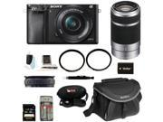 Sony A6000 Alpha A6000 Mirrorless Digital Camera with 16-50mm and 55-210mm Lens Bundle and 32GB Deluxe Accessory Kit