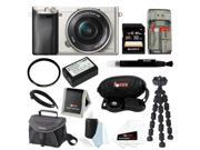 Sony a6000: Alpha a6000 24.3 MP Interchangeable Lens Camera with 16-50mm Power Zoom Lens  + Sony 32GB SD Card + Replacement NP-FW50 Battery for Sony + Tiffen 40.5mm UV Filter + Accessory Kit