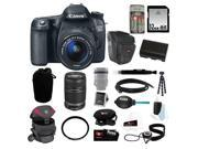 Canon 70d EOS 70D SLR CMOS 20.2MP Digital Camera EFS 18-55mm Lens + Canon EF-S 55-250mm f/4.0-5.6 IS II Telephoto Zoom Lens + 32GB Memory Card + Kit