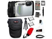 Olympus TG-850 Digital Camera (Silver) with 32GB Deluxe Accessory Kit