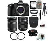 Olympus OM-D E-M1 Compact System Camera (Body) with 40-150mm and 12-40mm Lens Bundle plus 32GB Deluxe Accessory Kit