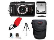 Olympus Stylus TOUGH TG-3 Digital Camera (Black) with 16GB Deluxe Accessory Kit