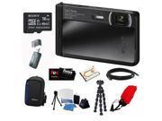 Sony DSC-TX30/B 18 MP Digital Camera (Black) + 16GB Memory Card Class 4 + Multi Card Reader Writer + NP-BN1 BATTERY F/ SONY + HDMI Standard to Micro Cable + Digital Camera Case + Kit