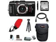 Olympus Stylus TOUGH TG-3 Digital Camera (Black) with 32GB Deluxe Accessory Kit