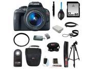 Canon sl1 EOS Rebel SL1 Digital SLR with EF-S 18-55mm IS STM and 32GB Deluxe Accessory Kit