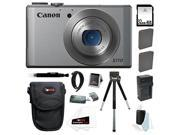 Canon PowerShot S110 12.1MP Digital Camera with 5x Optical Zoom 3-inch Touchscreen (Silver) with 32GB Accessory Bundle