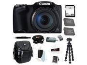 Canon PowerShot SX400 IS Digital Camera (Black) 32GB Deluxe Accessory Bundle