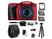 Canon PowerShot SX400 IS Digital Camera (Red) 32GB Deluxe Accessory Bundle