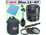 Canon EF 20mm F2.8 USM Wide Angle Lens for EOS SLR Cameras Deluxe Kit