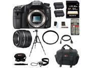 Sony A77II Digital SLR Camera (Body Only) with Sony DSLR SAL35F18 SAL-35F18Z 35 F1.8 AF Alpha Camera Lens and 64GB Deluxe Accessory Kit