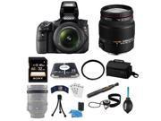 Sony SLT-A58K DSLR Camera and 18-55mm Lens Bundle with Sigma 18-200mm F3.5-6.3 II DC OS HSM Lens Bundle