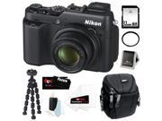 Nikon COOLPIX P7800 12.2MP Digital Camera with 7.1x Optical Zoom and 3-inch Vari-Angle LCD + 32GB SDHC + Tiffen UV Filter + Camera Case + Spider Tripod + Accessory Kit