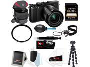 FujiFilm X-M1 16MP Digital Camera with 16-50mm Lens(Black) + Sony 32GB Memory Card + Tamrac Camera Case + Tiffen 58mm UV Protector + Kit Bundle