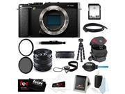 Fujifilm X-M1 Body (Black) Digital Camera with Fujifilm XF 14mm F2.8 Lens Wide Angle Lens and 64GB Deluxe Accessory Kit