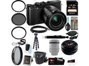 Fujifilm X-M1 Compact System 16MP Digital Camera Kit with 16-50mm Lens + 32GB Memory Card + Kit