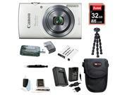 Canon ELPH 160 Powershot (White) with 32GB Deluxe Accessory Bundle