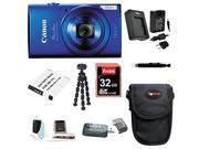Canon PowerShot 160 ELPH IS Digital Camera (Blue) with 32GB Deluxe Accessory Bundle