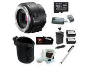 Sony Alpha ILCE-QX1/B Smartphone Attachable Interchangeable Lens Style Camera 64GB Bundle