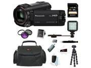 Panasonic HC-W850K Twin Recording HD Wi-Fi Digital Camcorder (Black) with  Sony 64GB C10 Deluxe Accessory Bundle