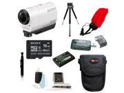 Sony HDR-AZ1 Action Cam Mini (White) with 32GB Deluxe Accessory Kit