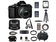 Olympus OM-D E-M10 Mirrorless Micro Four Thirds Digital Camera with 14-42mm Lens (Black) and Olympus M.Zuiko Digital 25mm f/1.8 Lens (Black) plus 64GB Deluxe Accessory Kit