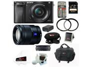 Sony a6000: Alpha a6000 ILCE-6000/B Interchangeable Lens Camera (Black) with 16-50mm and 16-70mm Lens Bundle and 32GB Deluxe Accessory Kit