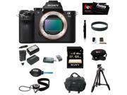 Sony Alpha a7II Interchangeable Digital Lens Camera (Body) with 64GB Deluxe Accessory Bundle