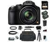 Panasonic Lumix DMC-FZ70 16.1 Megapixel Digital Camera with 64GB Accessory Bundle