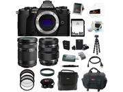 Olympus OM-D E-M5 Mark II Camera Body (Black) with Olympus M Zuiko Digital ED 12-40mm f/2.8 Pro Interchangeable Lens and 32GB Deluxe Accessory Bundle
