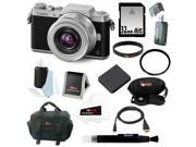 Panasonic DMC-GF7KK Compact System Camera (DSLM) with 12-32mm Lens + 32GB SD Card + Replacement Battery for Panasonic DMW-BLH7 + Deluxe Accessory Bundle