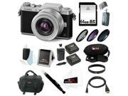 Panasonic DMC-GF7KK Compact System Camera (DSLM) with 12-32mm Lens +64GB SD Card + Two Replacement Batteries and One Charger for Panasonic BLH7 + 37mm Three Piece Filter Set + Deluxe Accessory Bundle