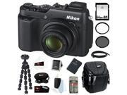 Nikon P7800 COOLPIX 12.2MP Digital Camera with 7.1x Optical Zoom and 3-inch Vari-Angle LCD + 64GB SDHC + EN-EL14 Battery + Camera Case + Spider Tripod + Accessory Kit