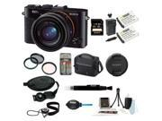 Sony DSCRX1R/B DSCRX1RB 24MP Compact System Cyber-Shot Digital Still Camera Bundle with Sony 32GB SD Memory Card + Wasabi Power Replacement Battery + Tiffen Filter Kit + Carrying Case